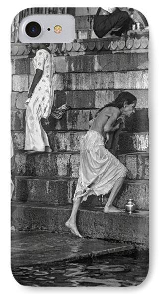 Mother Ganges Monochrome Phone Case by Steve Harrington