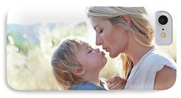 Mother Kissing Daughter IPhone Case