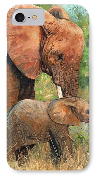 Mother Love 2 IPhone Case by David Stribbling