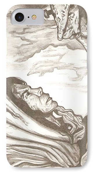 Mother Mary Drawing Phone Case by Robert Crandall
