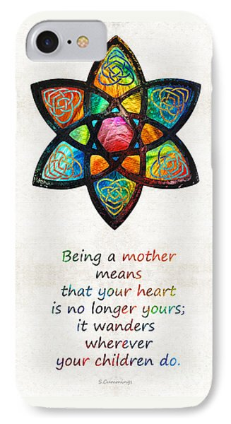 Mother Mom Art - Wandering Heart - By Sharon Cummings IPhone Case by Sharon Cummings