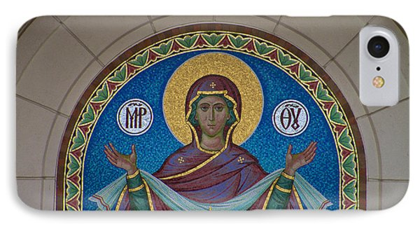 Mother Of God Mosaic IPhone Case by William Norton