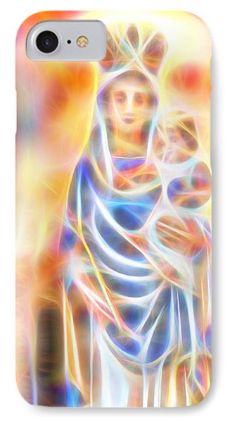 IPhone Case featuring the painting Mother Of Light by Dave Luebbert