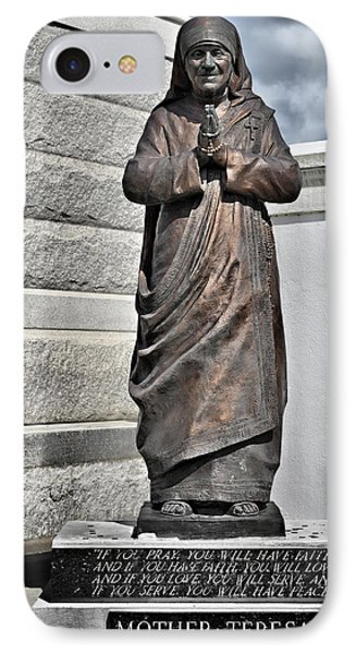 Mother Teresa - St Louis Cemetery No 3 New Orleans IPhone Case by Christine Till