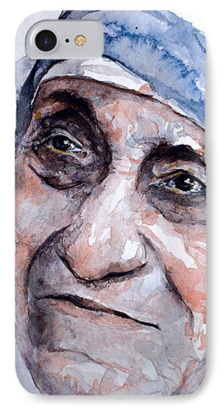 Mother Theresa Watercolor IPhone Case by Laur Iduc
