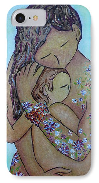 Motherhood Flowers All Over IPhone Case by Gioia Albano