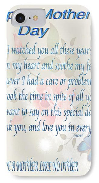 Mothers Day Poem Card Phone Case by Debra     Vatalaro