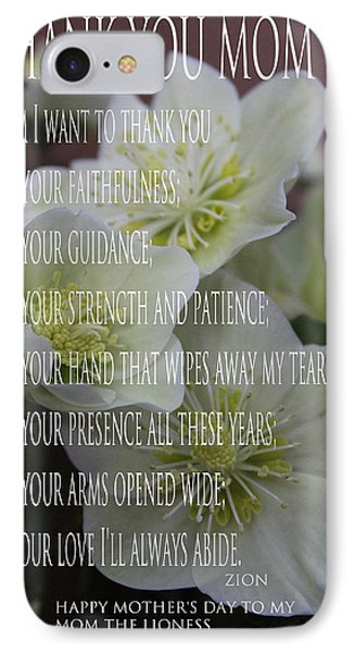 Mothers Day  Poem Phone Case by Debra     Vatalaro
