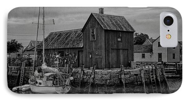 Motif Number 1 - Rockport Harbor Bw IPhone Case by Stephen Stookey