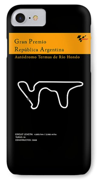 Moto Gp Argentina IPhone Case by Mark Rogan