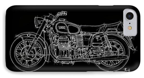 Moto Guzzi Ambassador 1969 IPhone Case by Pablo Franchi