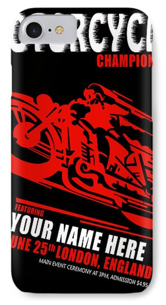 Motorcycle Customized Poster 2 IPhone Case by Mark Rogan