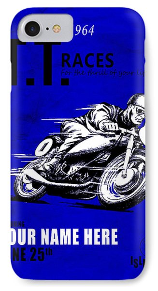 Motorcycle Customized Poster 3 IPhone Case by Mark Rogan