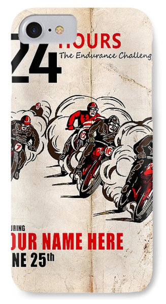 Motorcycle Customized Poster 5 IPhone Case by Mark Rogan