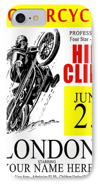 Motorcycle Customized Poster 6 IPhone Case by Mark Rogan