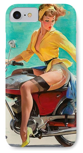 Motorcycle Pinup Girl IPhone Case