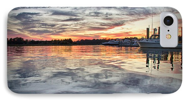 IPhone Case featuring the photograph Mott's Channel Sunset by Phil Mancuso