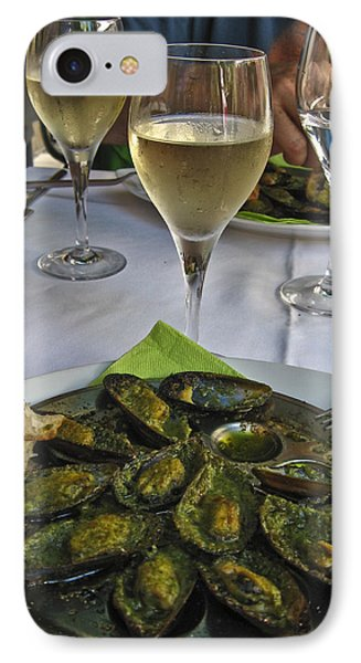 Moules And Chardonnay Phone Case by Allen Sheffield