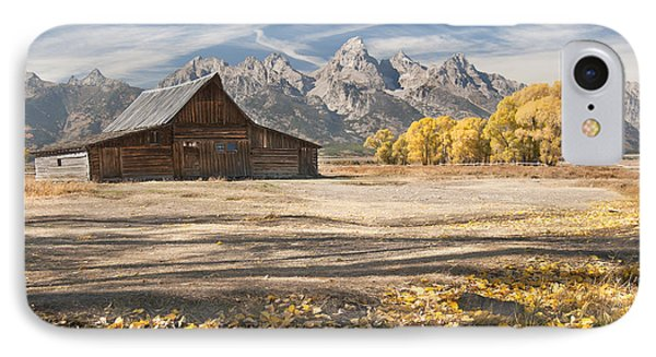 IPhone Case featuring the photograph Moulton Barn Autumn by Wanda Krack