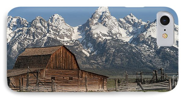 Moulton Barn - Grand Tetons I IPhone Case by Sandra Bronstein