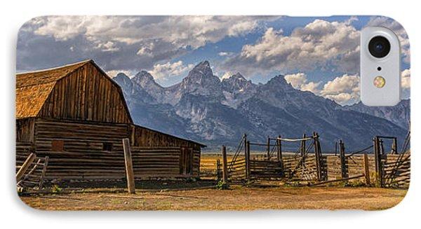 Moulton Barn Panorama - Grand Teton National Park Wyoming IPhone Case