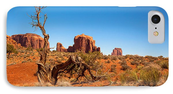 Moument Valley And Tree Stump Phone Case by Jane Rix
