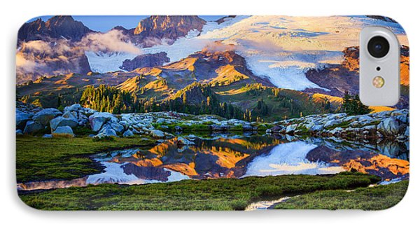 Mount Baker Reflection IPhone Case by Inge Johnsson