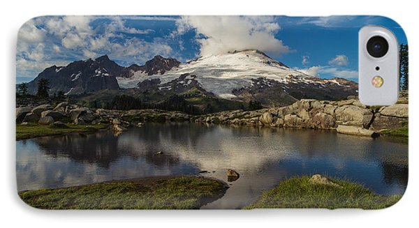 Mount Baker Skies Reflection IPhone Case by Mike Reid