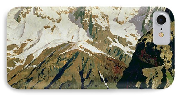 Mount Blanc Mountains Phone Case by Isaak Ilyich Levitan