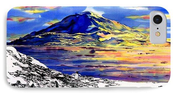 Mount Erebus Antarctica IPhone Case by Carolyn Doe
