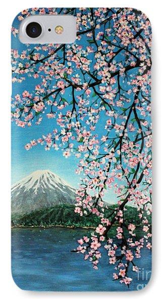 Mount Fuji Cherry Blossoms Phone Case by Sheena Kohlmeyer