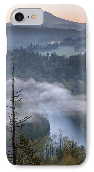 Mount Hood And Sandy River At Sunrise IPhone Case by Jit Lim