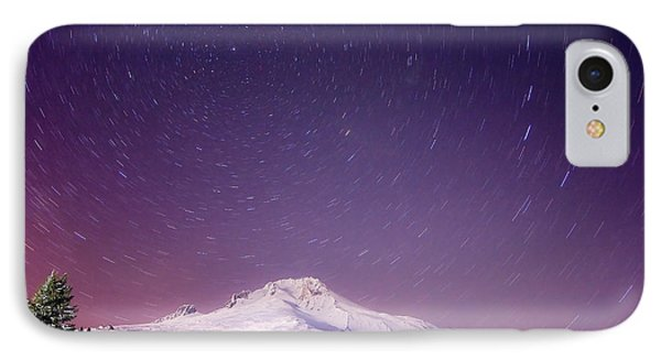 Mount Hood And Stars IPhone Case by Darren  White