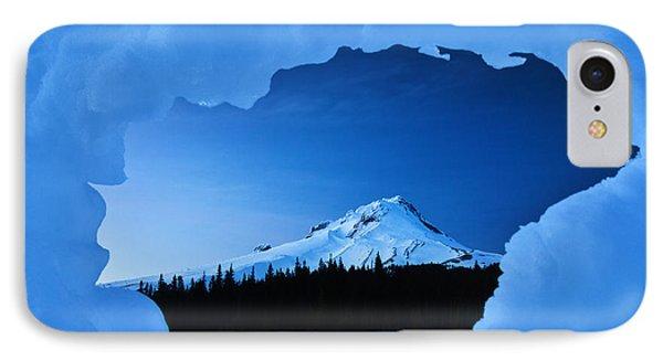 Mount Hood Blues IPhone Case by Darren  White