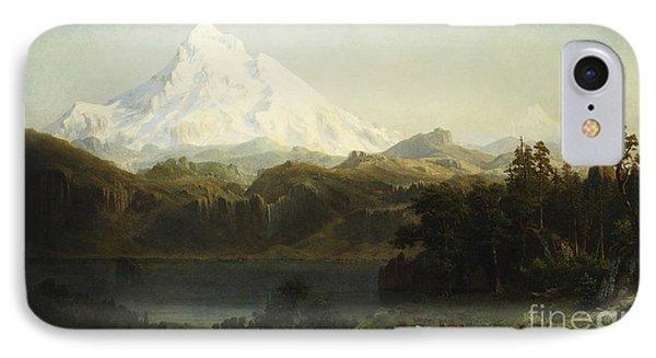 Mount Hood In Oregon IPhone Case by Albert Bierstadt