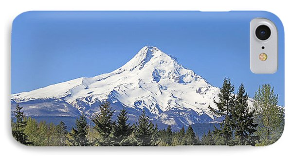 Mount Hood Mountain Oregon Phone Case by Jennie Marie Schell