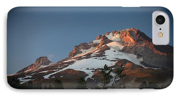 Mount Hood Summit In Warm Glow IPhone Case