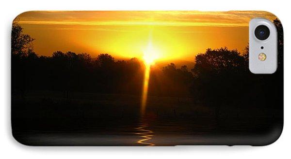 Mount Lassen Sunrise Gold IPhone Case