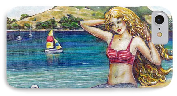 Mount Maunganui Beach Mermaid 160313 IPhone Case by Selena Boron