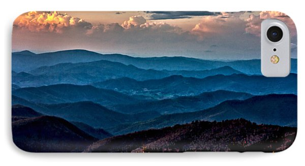 IPhone Case featuring the photograph Mount Mitchell Sunset by John Haldane