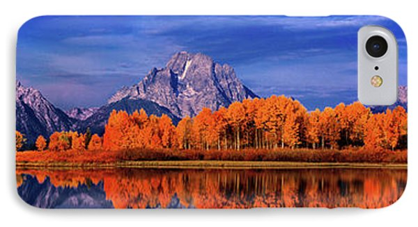 Mount Moran And Fall Color Grand Tetons IPhone Case by Dave Welling