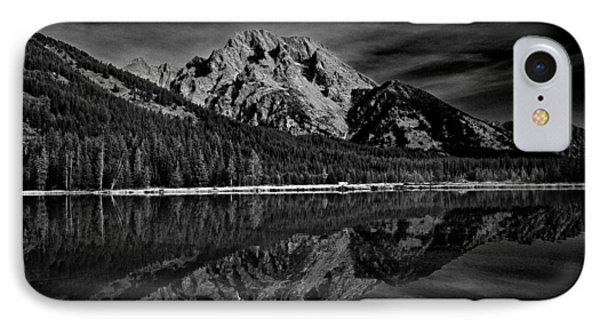 Mount Moran In Black And White IPhone Case