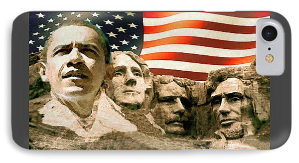 Barack Obama Mount Rushmore IPhone Case