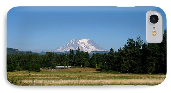 Mount Rainier 8 IPhone Case by Kathy Long