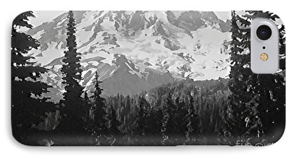 IPhone Case featuring the photograph Mount Rainier by Ann Johndro-Collins