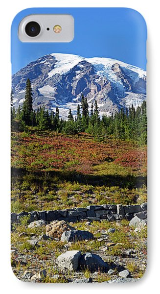 IPhone Case featuring the photograph Mount Rainier by Anthony Baatz
