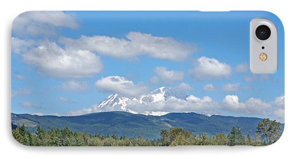 Mount Rainier As Viewed From The West Phone Case by Connie Fox