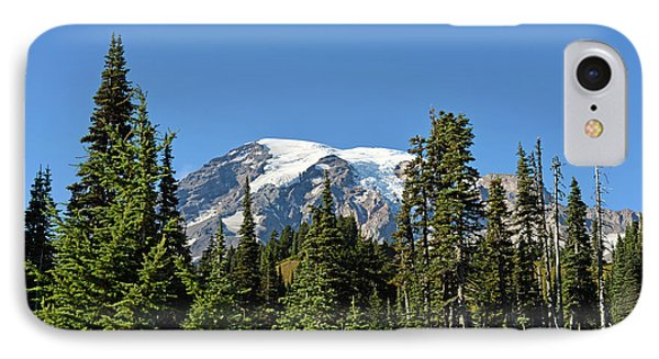 IPhone Case featuring the photograph Mount Rainier Evergreens by Anthony Baatz