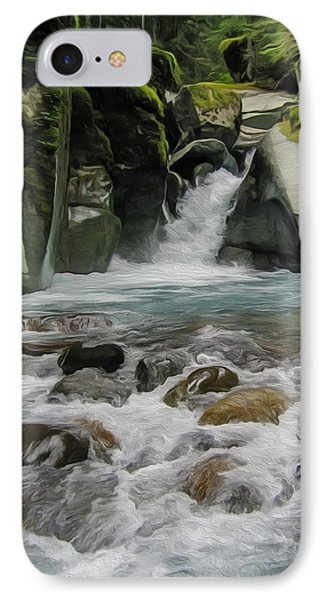 Mount Rainier Falls IPhone Case by John Haldane