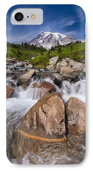 Mount Rainier Glacial Flow Phone Case by Adam Romanowicz